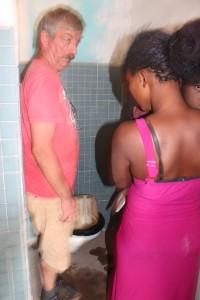 140. Het water in het toilet