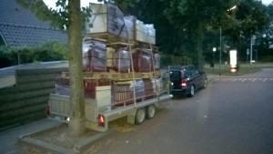 vervoer naar container